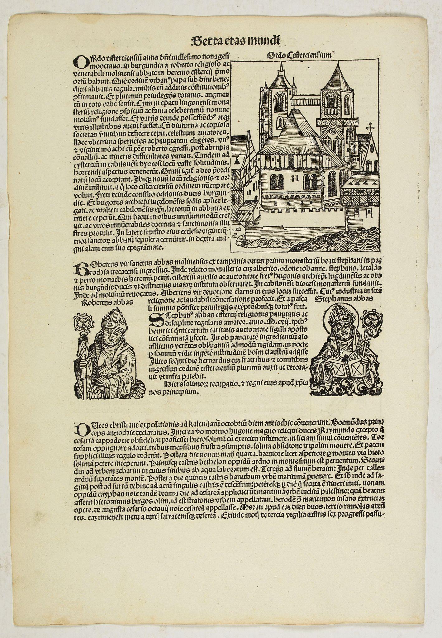 SCHEDEL, H. -  Sexta Etas Mundi. Folium. CXCV.