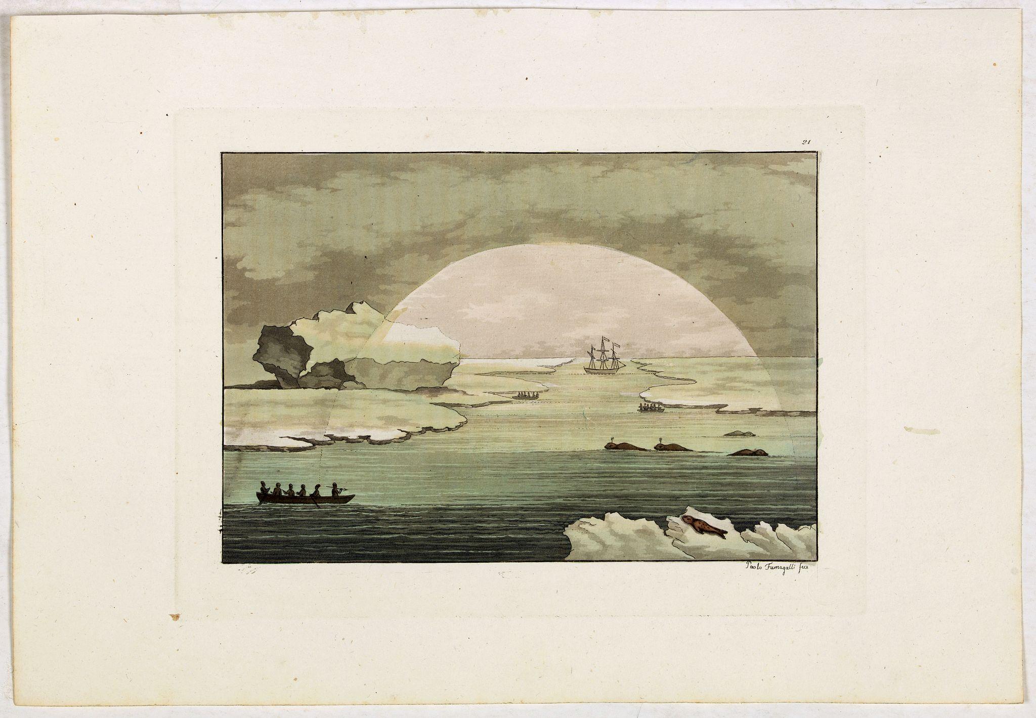 FERRARIO, G. -  [Seeking the North West Passage - the British Voyage to Spitzbergen, 1818].