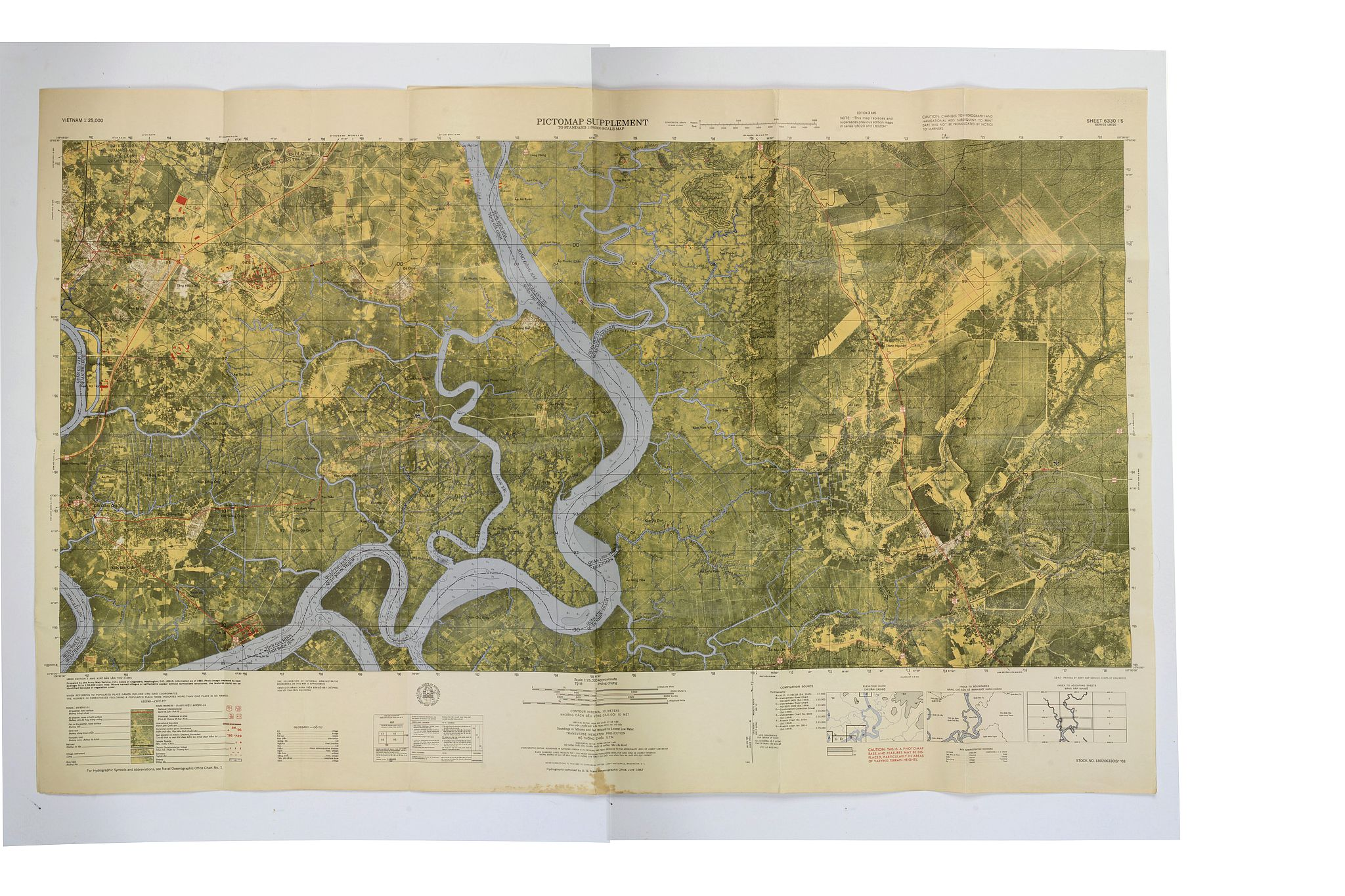 US NAVAL OCEANOGRAPHIC OFFICE. -  [US Army map of a part of Vietnam.]