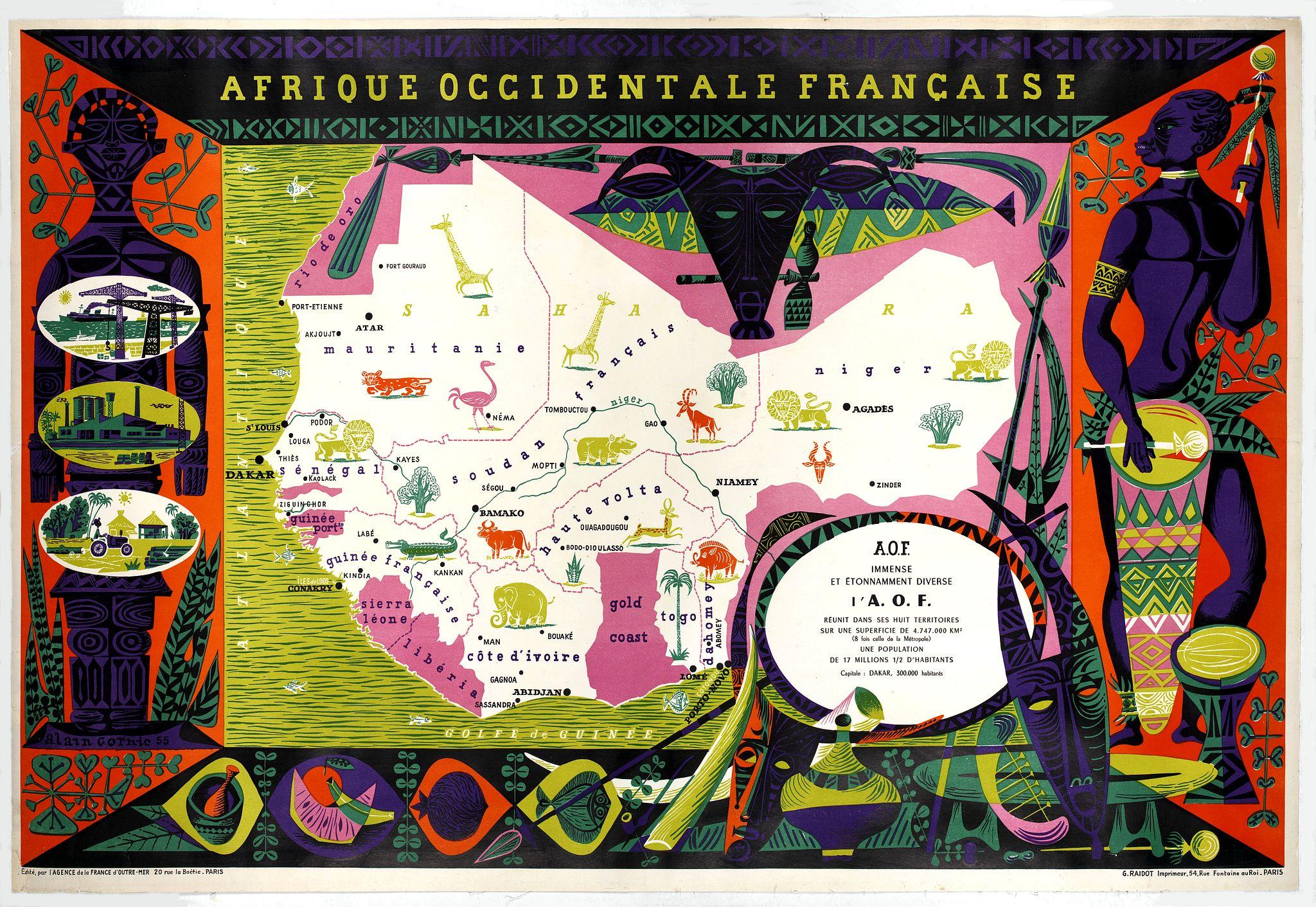 CORNIC, A. -  Afrique Occidentale Française AOF.