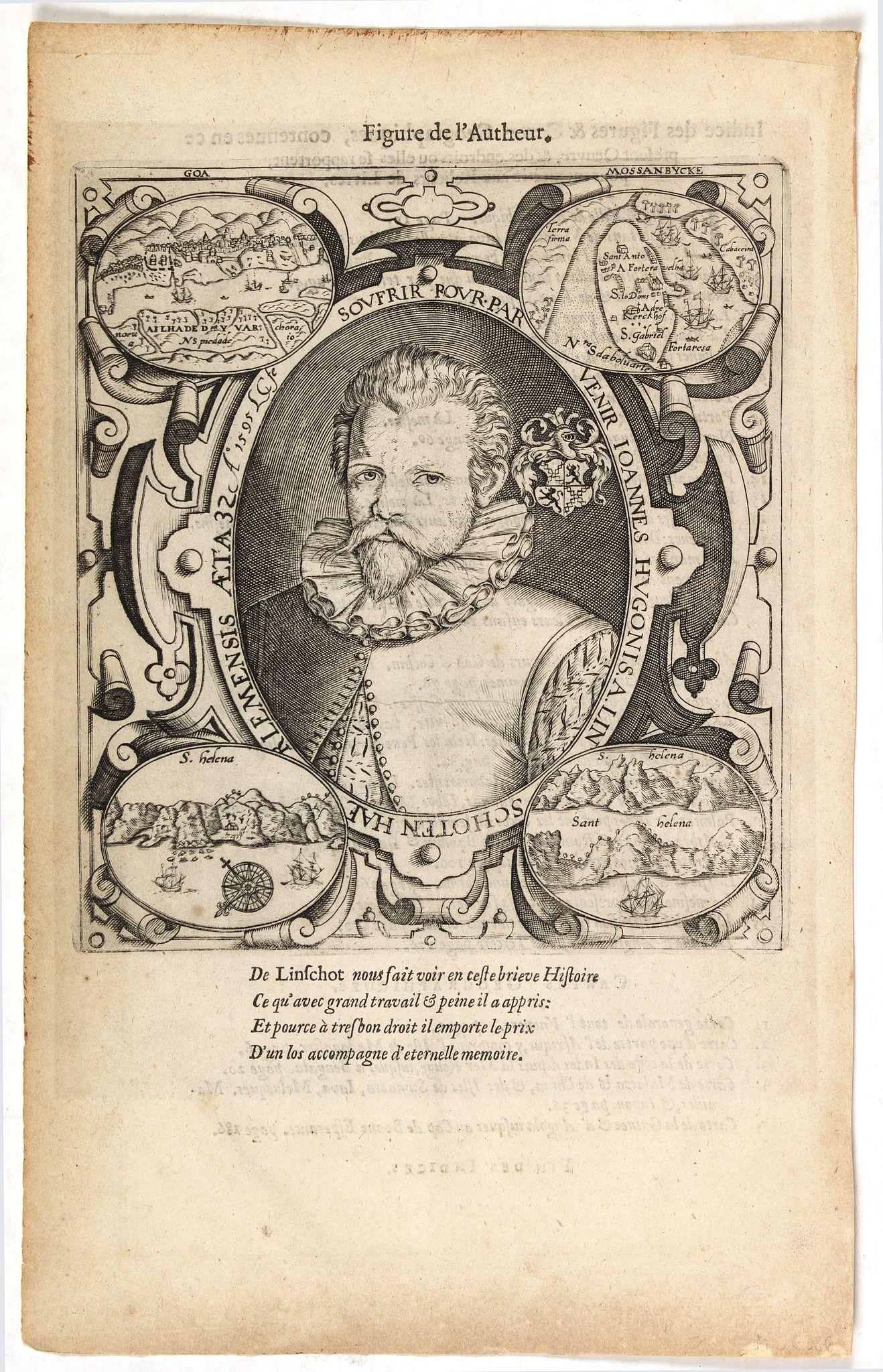 VAN LINSCHOTEN, J.H. -  [Portrait of J.H.van Linschoten.]