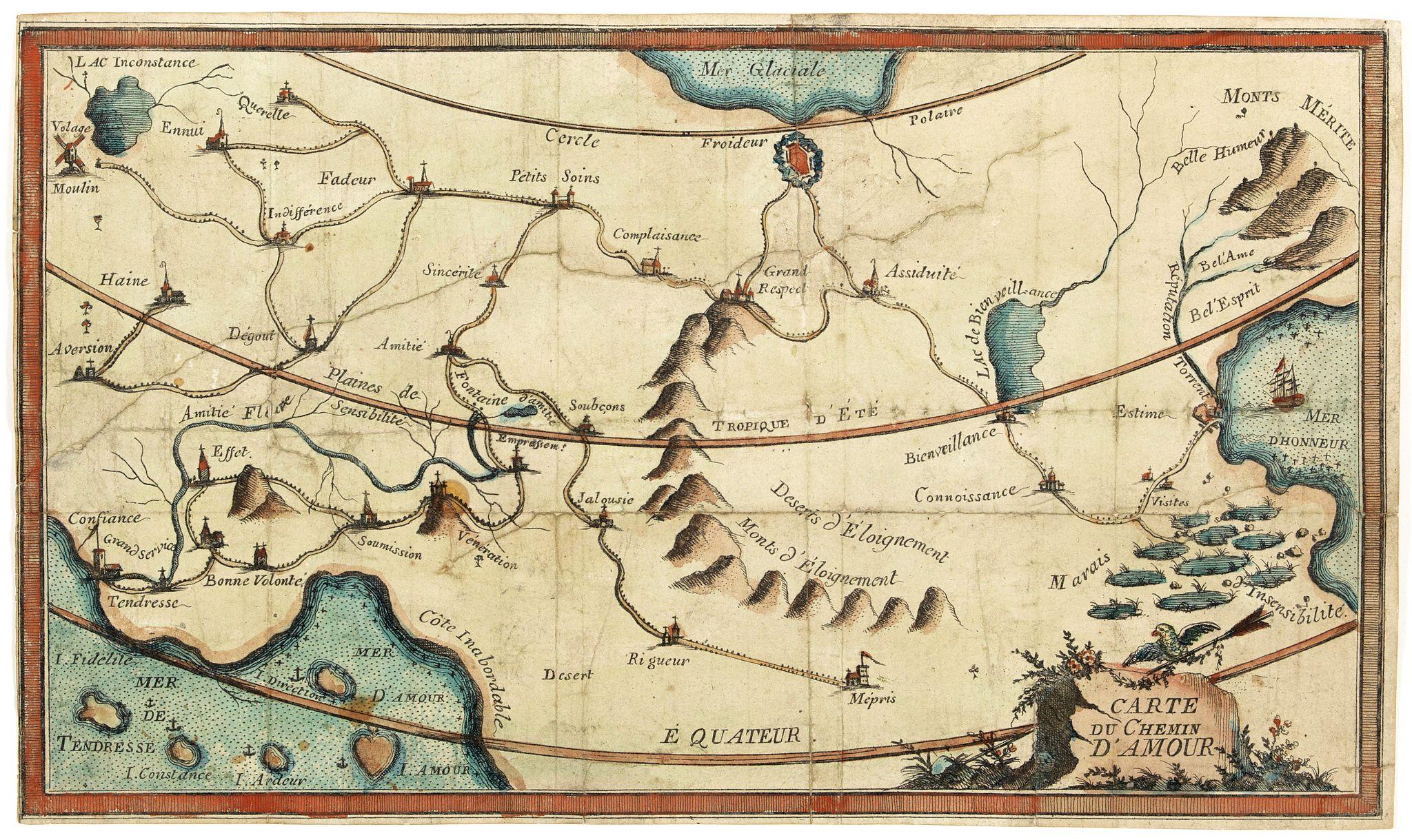 ANONYMOUS -  Carte du Chemin d'Amour.