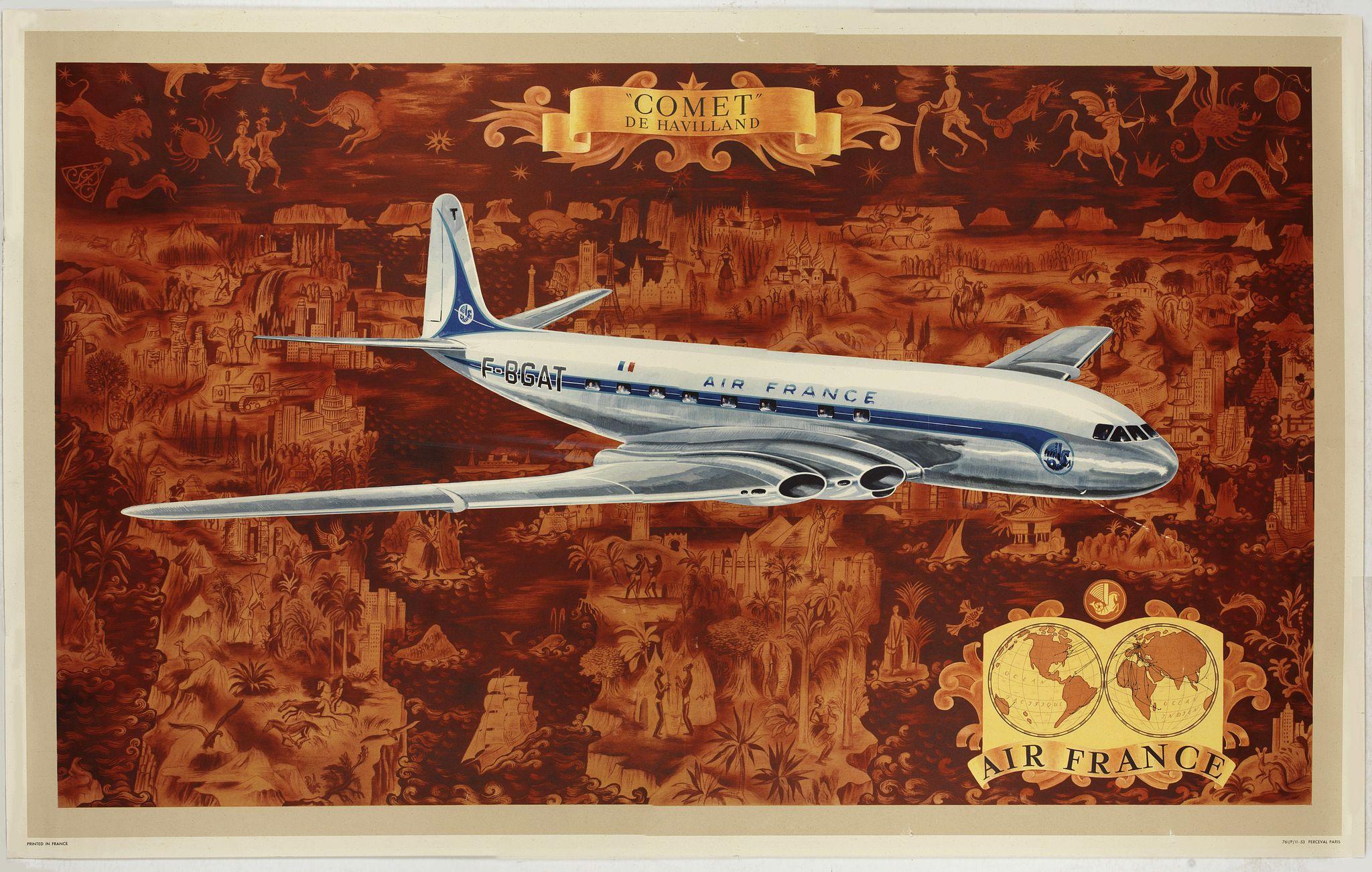 BOUCHER, L. -  AIR France - Comet De Havilland