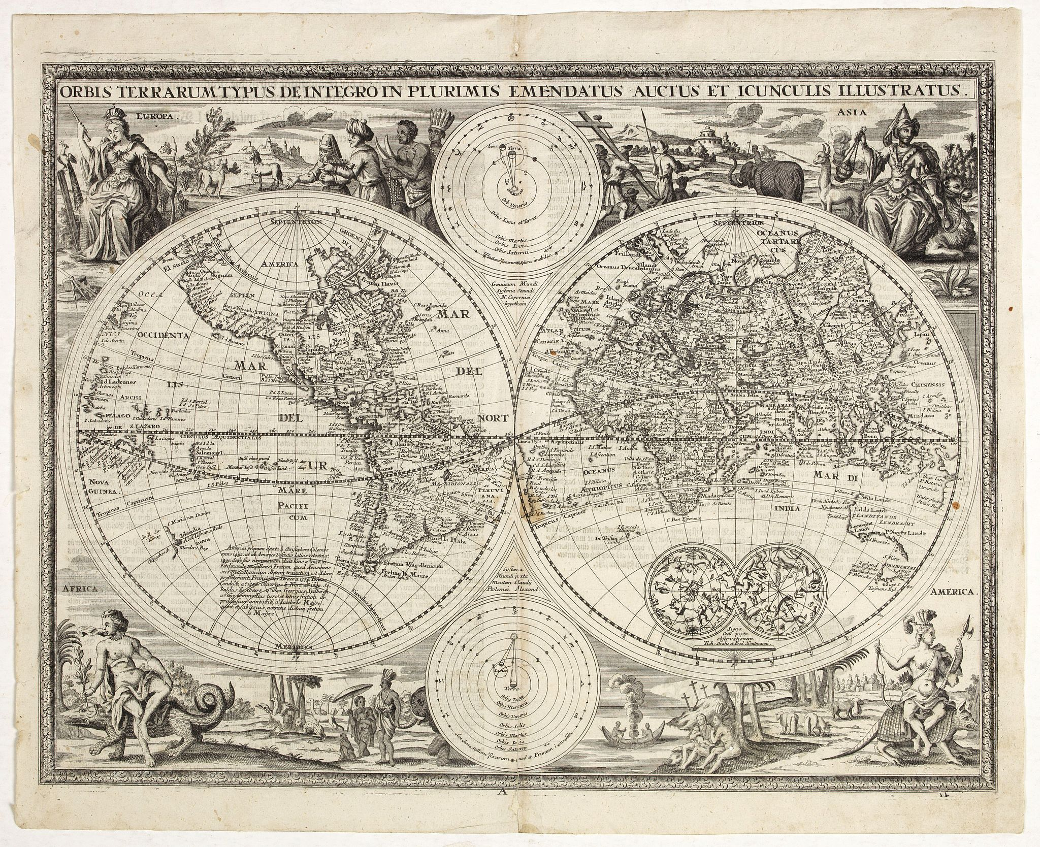 DETLEFFSEN, J. -  Orbis terrarum typus de integro in plurimis emendatus auctus et icunculis illustratus.