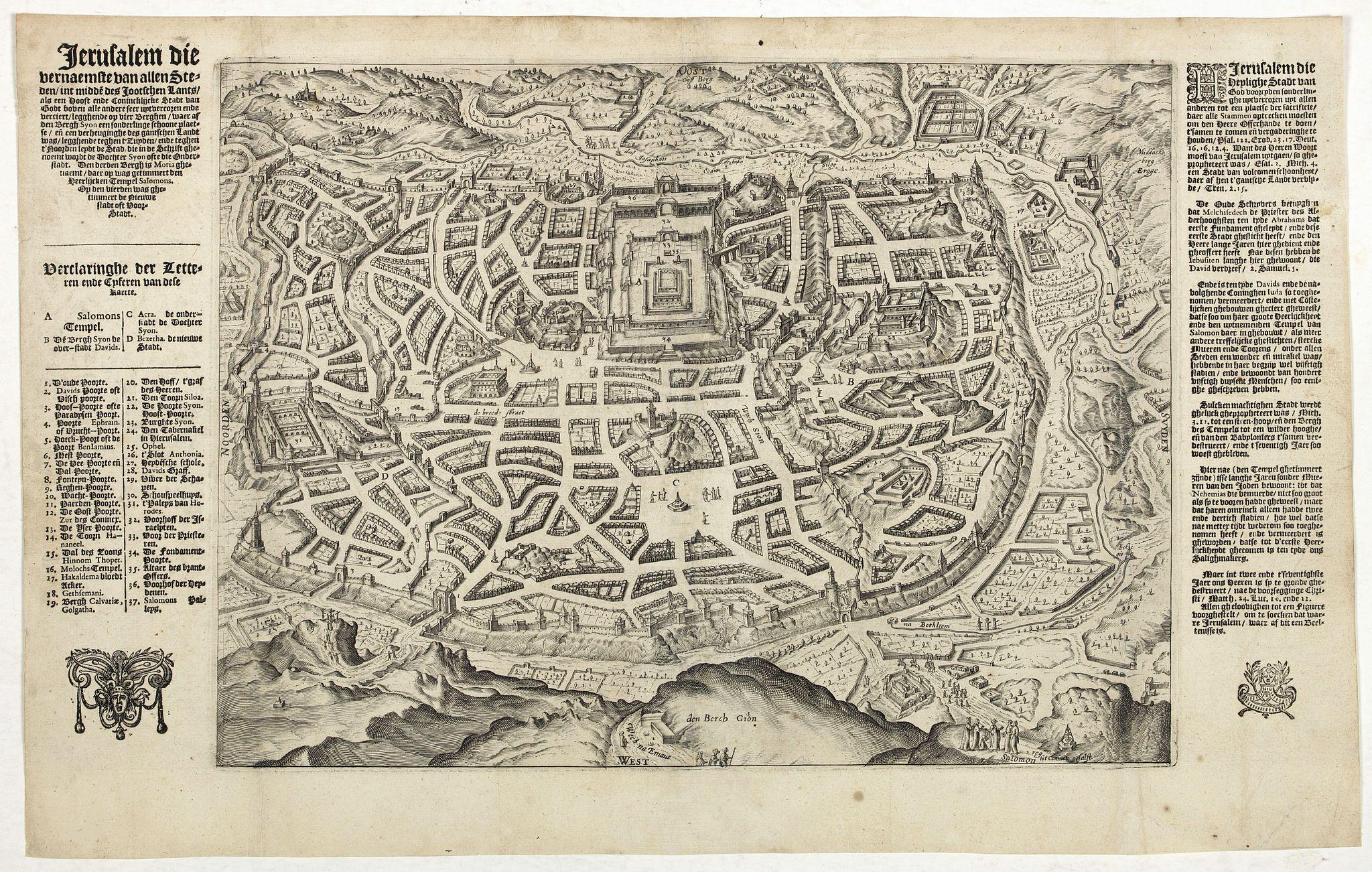 VAN DOECTECUM, J. -  Jerusalem die Heijlighe Stadt van God. . .