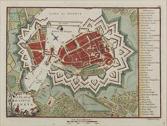 ANDREWS, J. -  A plan of the city of Geneva.