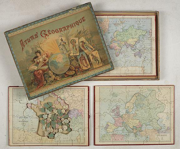 PAULY, G. -  Atlas Geographique. (Puzzle).