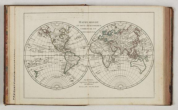 GRENET, L'Abbé. -  Atlas portatif A l'Usage des Collèges,...  Dédié A l'Université de Paris.