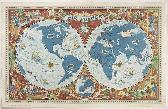 BOUCHER, L. / AIR France -  Sur les ailes d'Air France découvrez le monde à votre tour.