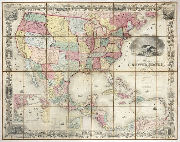 COLTON,J.H. -  United States of America the British Provinces, Mexico...