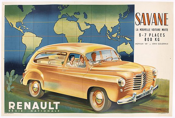 MORIN. L -  Renault Savane 1951 L. La nouvelle voiture mixte 6 / 7 places 800 kg moteur