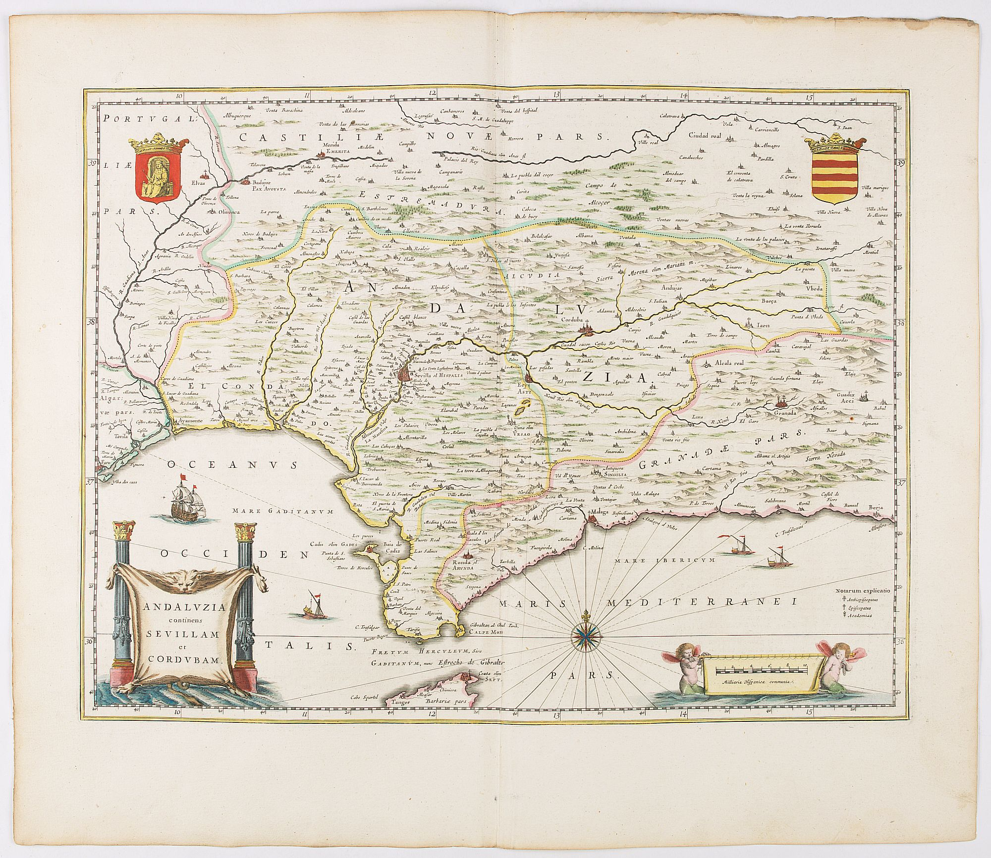 BLAEU, W. -  Andaluzia continens Sevillam.
