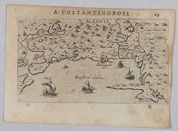 ROSACCIO, Giuseppe. -  [ Map with part of Albania]