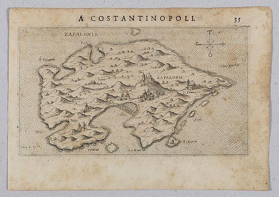 ROSACCIO, Giuseppe. -  Zafalonia [Map of Kefalonia]