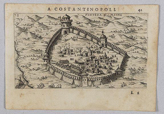 ROSACCIO, Giuseppe. -  [View of Forteza d'Maina]