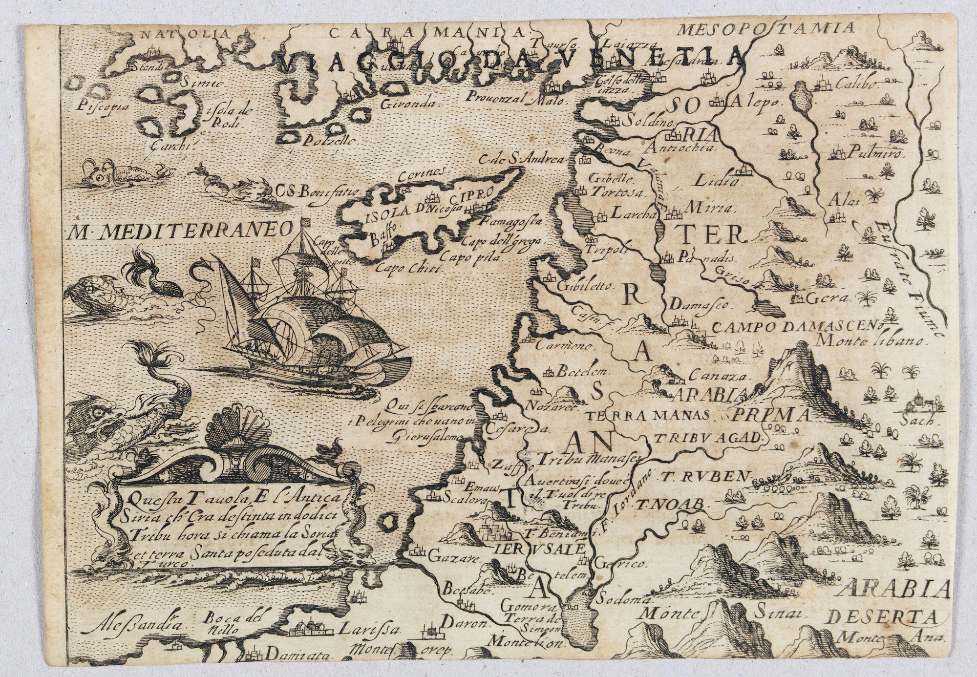 ROSACCIO, Giuseppe. -  Quella Tavola E l'Antica Siria ch'Era destinta in dodici . . .