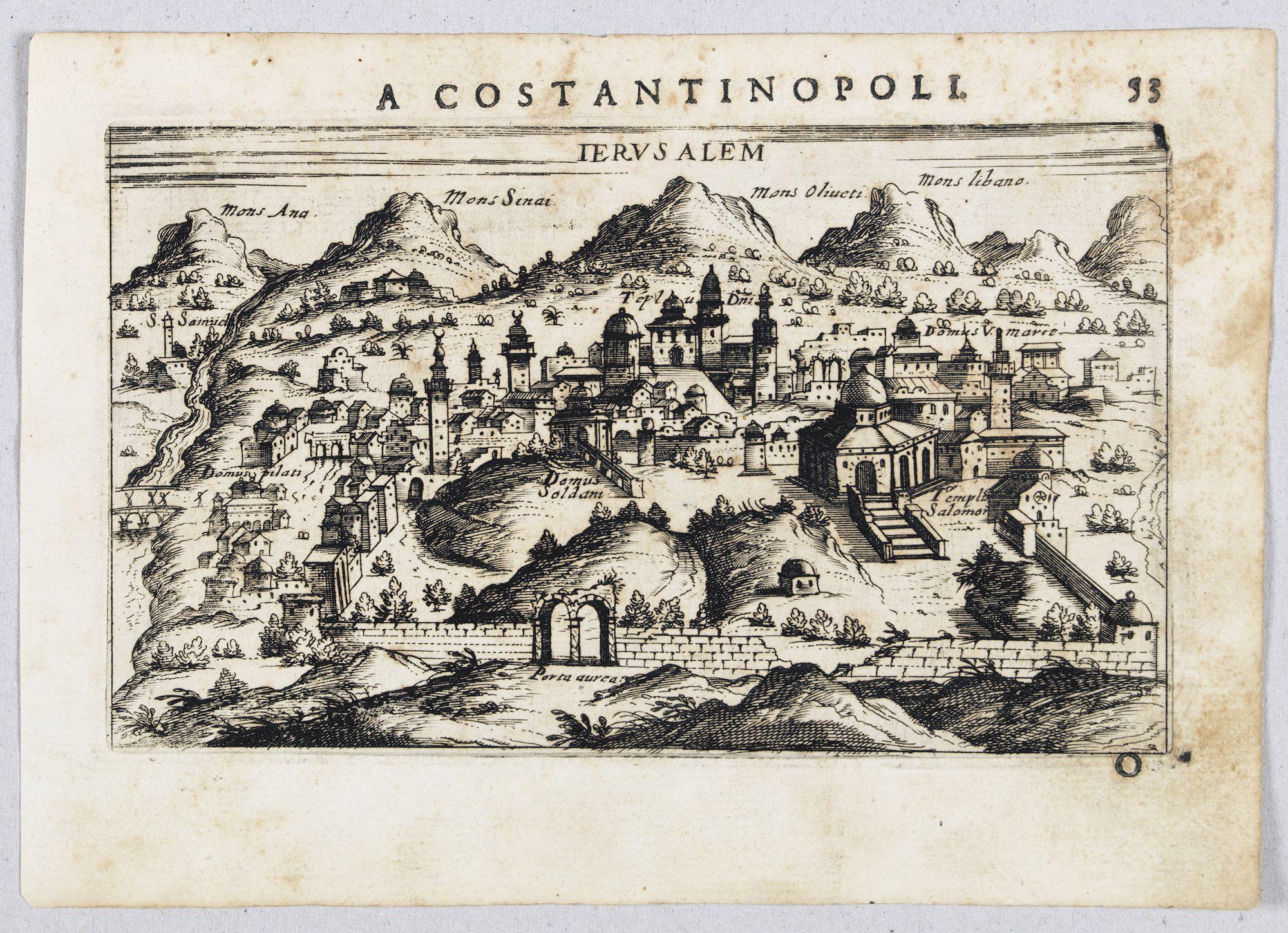 ROSACCIO, Giuseppe. -  Jerusalem.