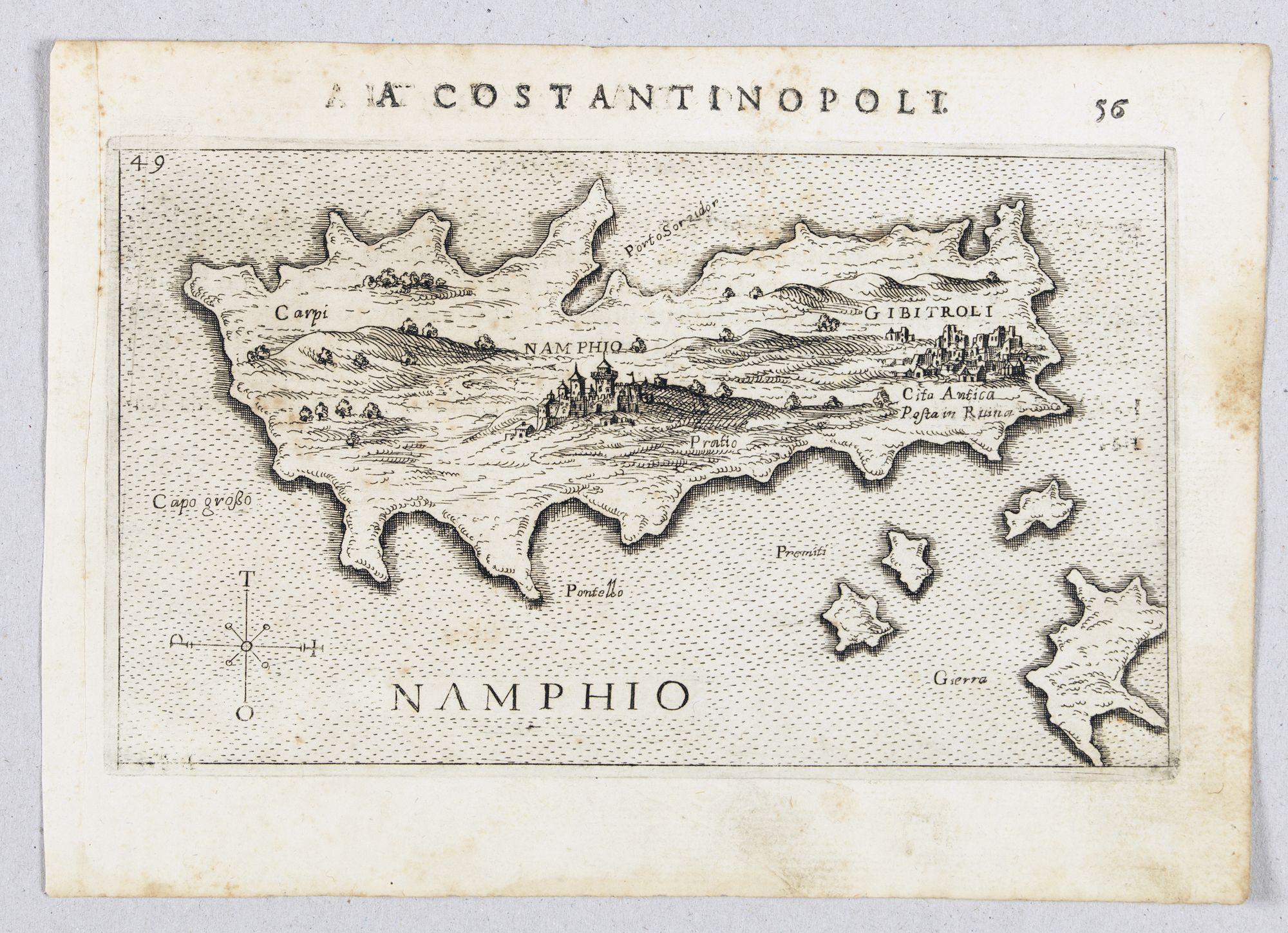 ROSACCIO, Giuseppe. -  Namphio. [Map of Anafi]