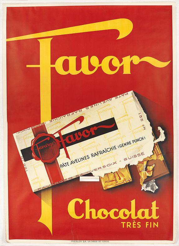 ANONYMOUS -  Favor, Chocolat très fin de Favarger.