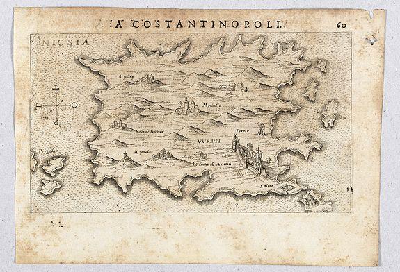 ROSACCIO, Giuseppe. -  [ Map of the island Nexos]