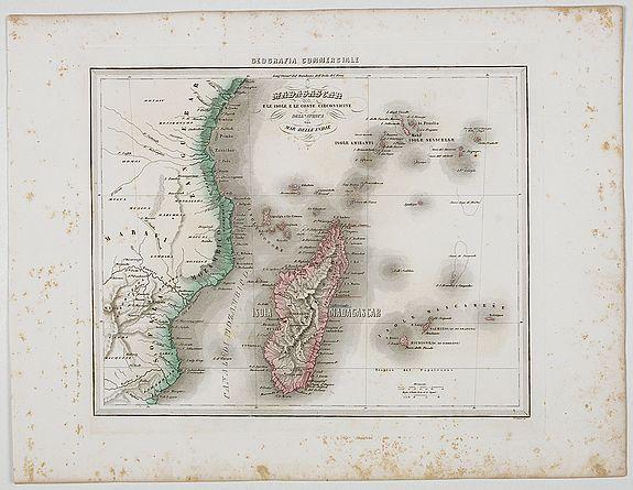 MARMOCCHI, F.C. -  Madagascar e le Isole E le Coste Circonvicine Dell' Africa nel Mar Delle Indie.