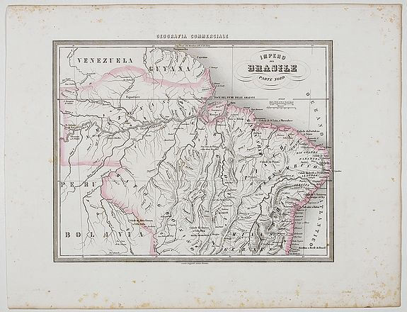 MARMOCCHI, F.C.,  Impero del Brasile Parte Nord., antique map, old maps