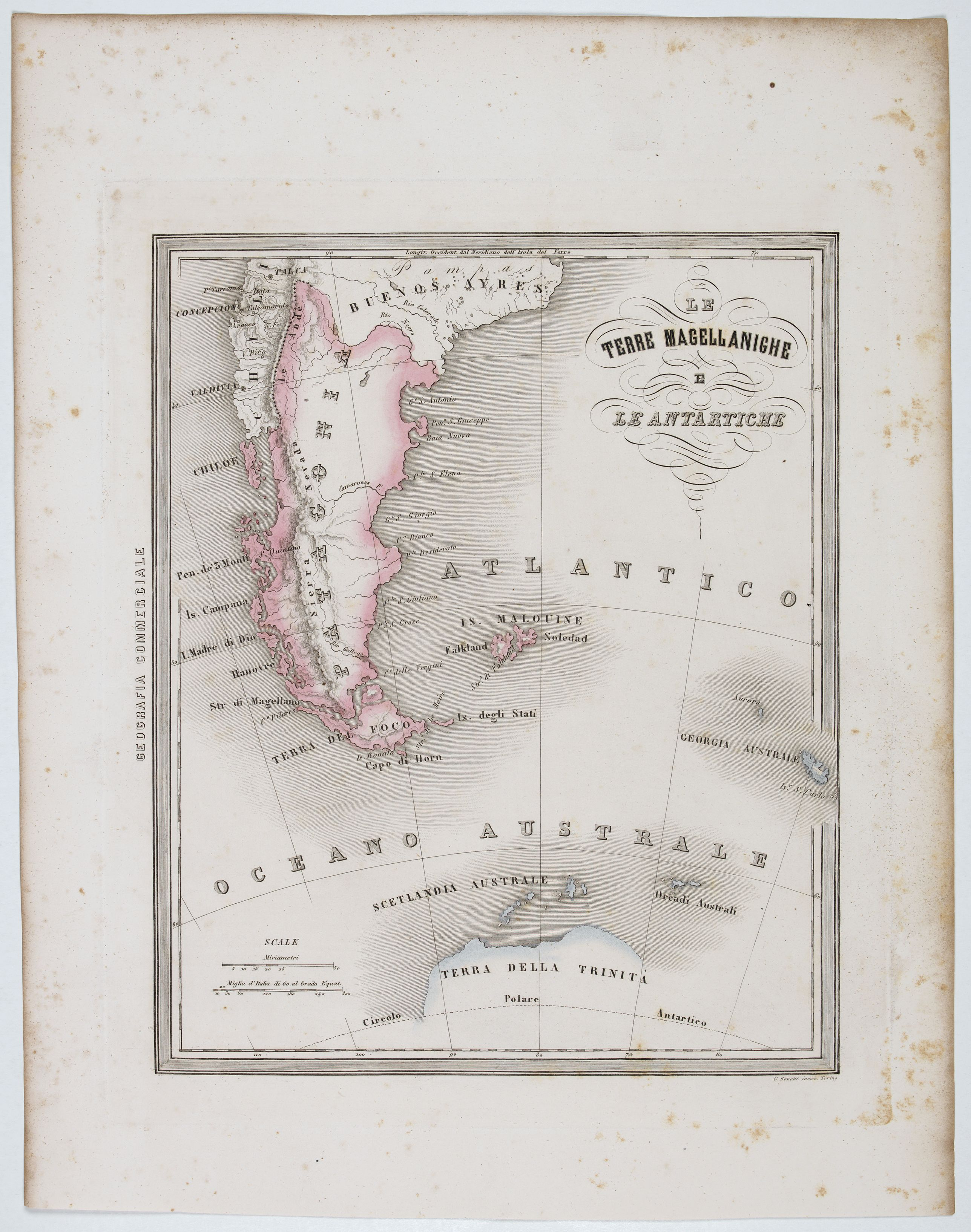 MARMOCCHI, F.C. -  Le Terre Magellanighe e Le Antartiche.