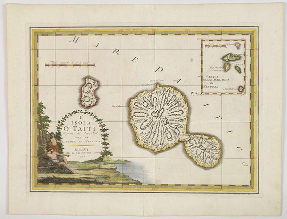 CASSINI, G.M. - L'Isola O-Taiti scoperta dal Cap. Cook, con le Marchesi di Mendoza.