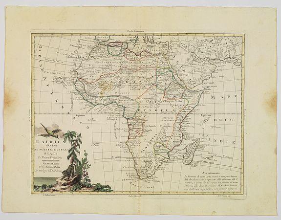 ZATTA, A. -  L'Africa divisa ne'suoi principali Stati di Nuova Projezione.