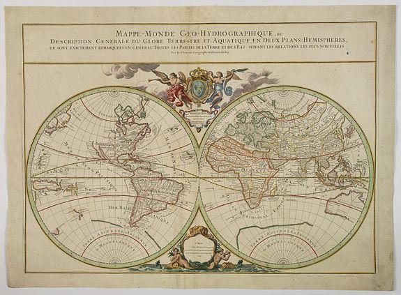 SANSON, G / JAILLOT, H. -  Mappe-Monde Geo-Hydrographique, ou Description Generale. . .
