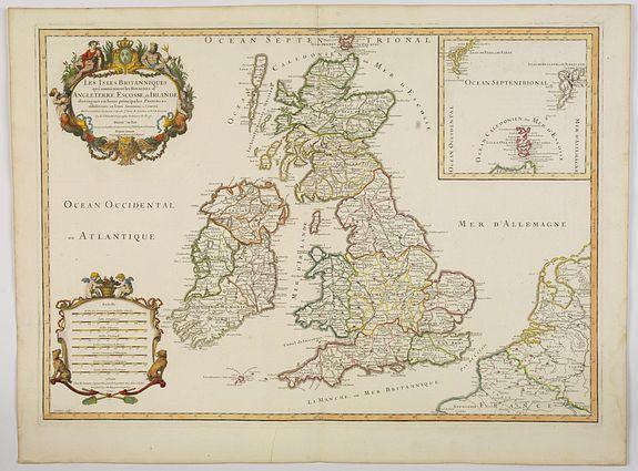 JAILLOT, A.H. -  Les Isles Britanniques qui contienuent les Royaumes d'Angleterre, Escosse, et Irlande. . .