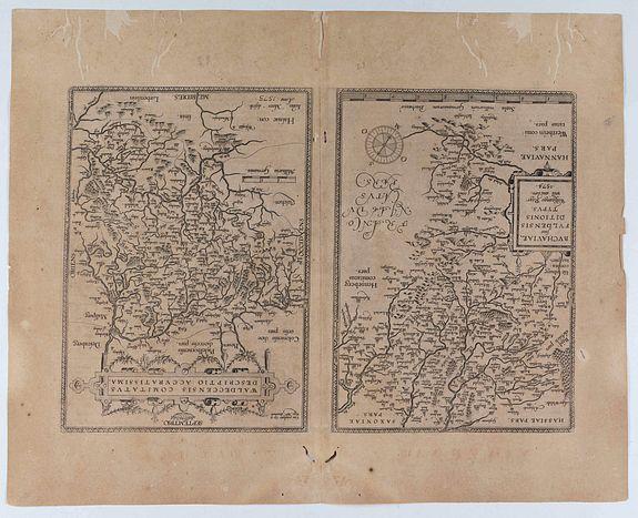 ORTELIUS, A. -  Buchaviae / Waldeccensis Comitatus.