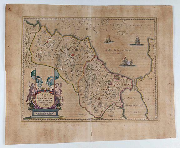 BLAEU, W. - Fezzae et Marocchi regna Africae celeberrima.