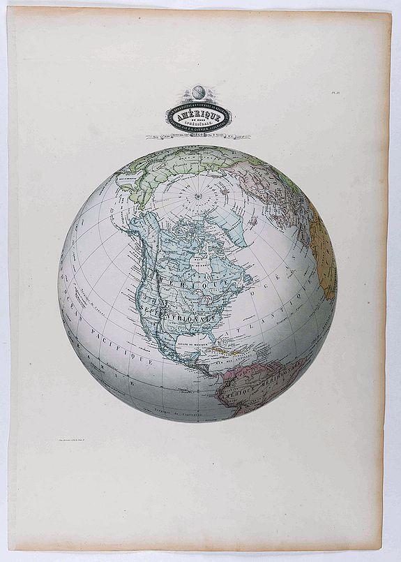 GARNIER, F.A. - Amérique du Nord sphéroidale.