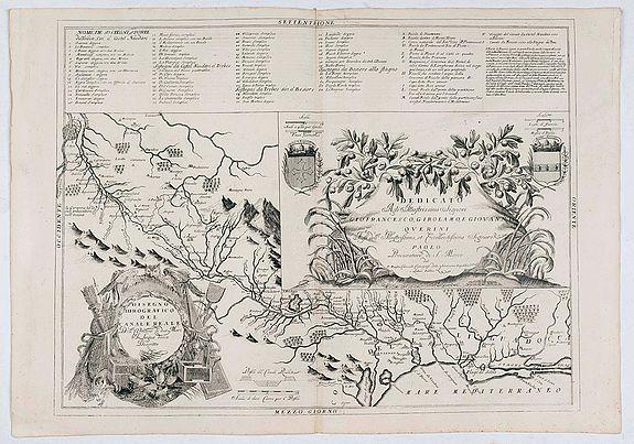 CORONELLI, V. -  Disegno Idrografico del Canale Reale . . .