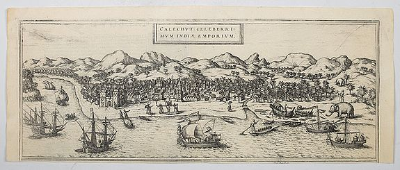 BRAUN, G. / HOGENBERG, F. - Calechut Celeberrimum Indiae Emporium.