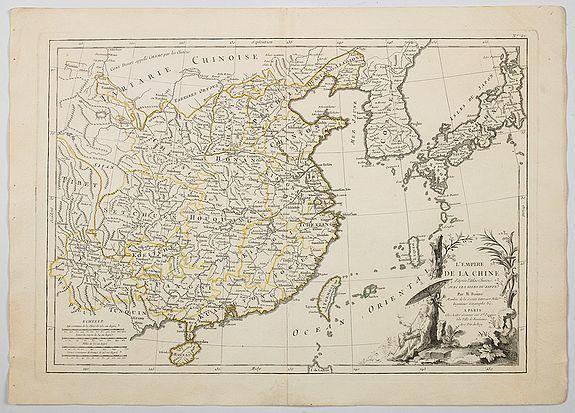 LATTRE / BONNE. - L'Empire de la Chine d'apres l'Atlas Chinois avec Les Isles du Japon . . .
