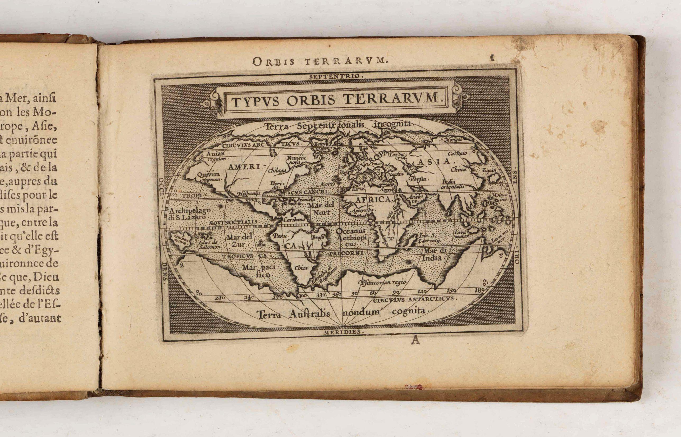 Epitome. Du Theatre du Monde d'Abraham Ortelius.