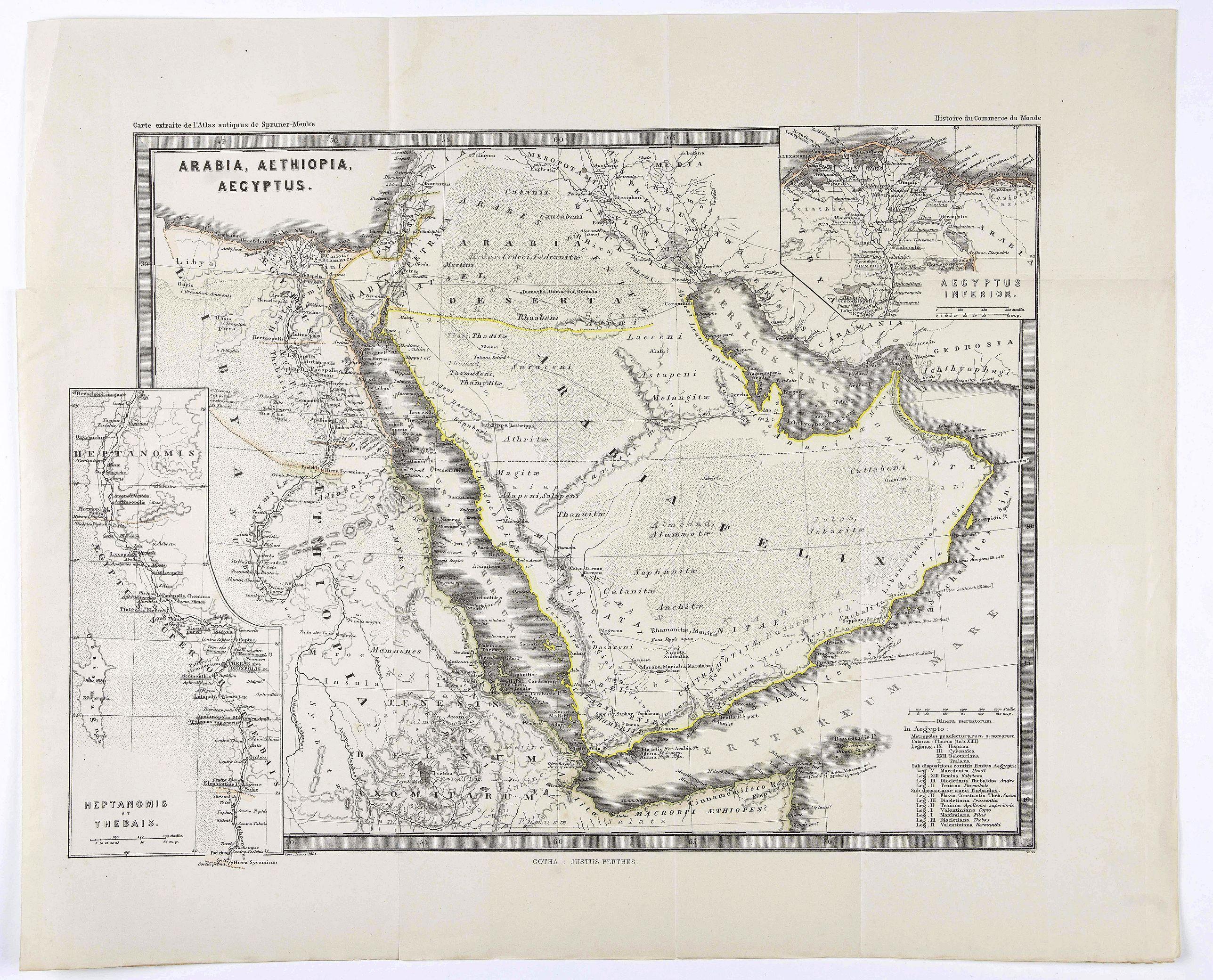 PERTHES, J. - Arabia, Aethiopia, Aegyptus.