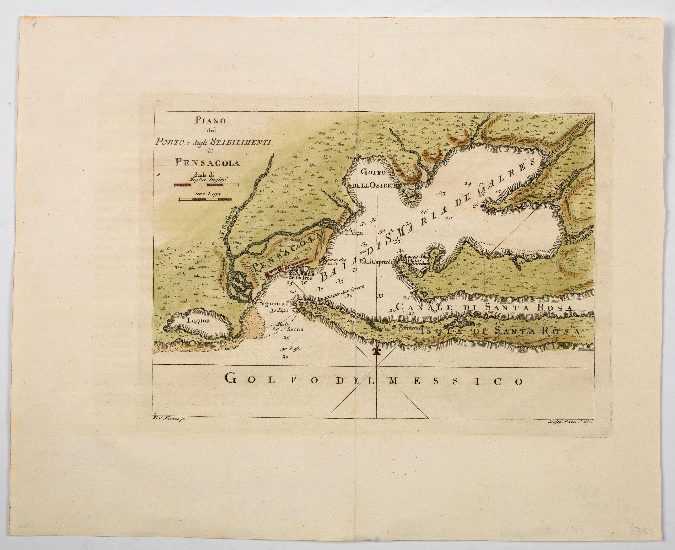 MASI. -  Plano del Porto, e degli Stabilimenti di Pensacola.