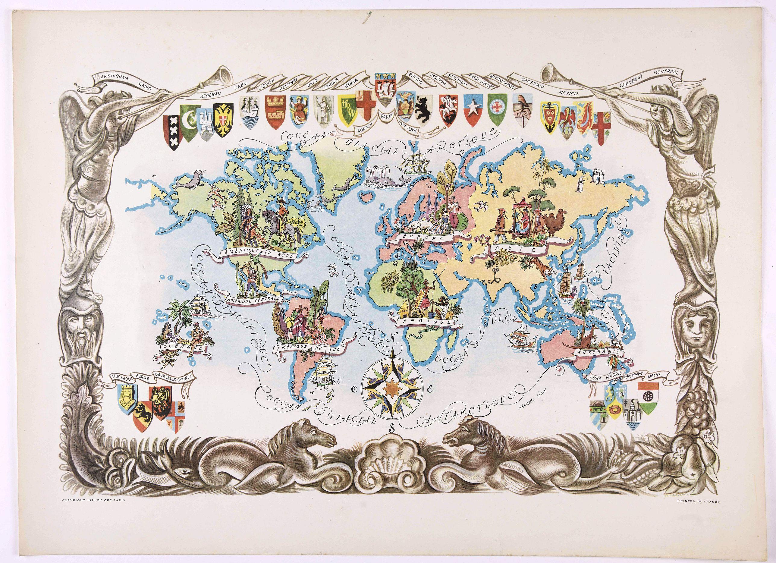 LIOZU, J. - [World Map].