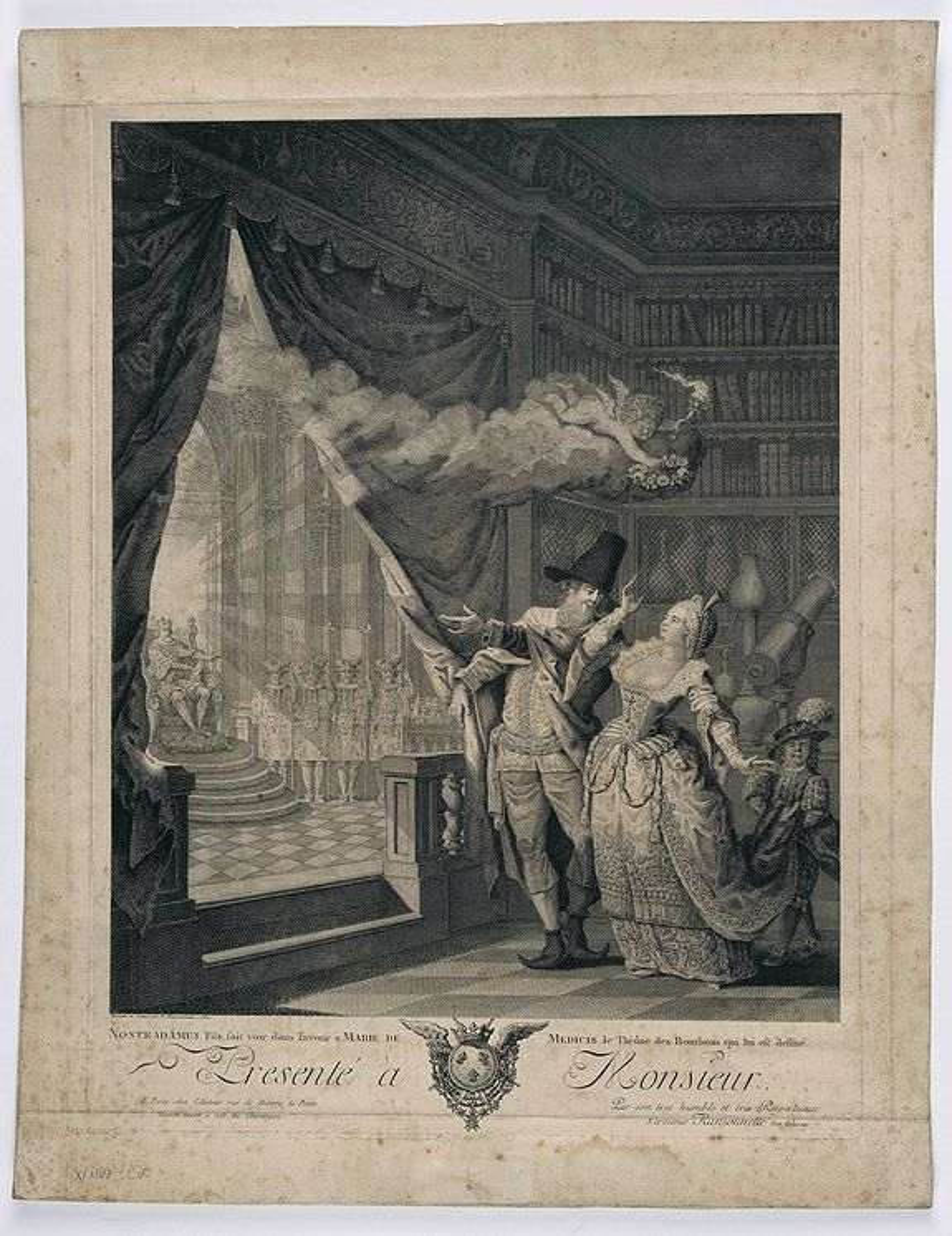 RANSONNETTE, N. - Nostradamus fils, fait voir dans l'avenir à Marie de Medicis le thrône des Bourbons qui lui est destiné. . .