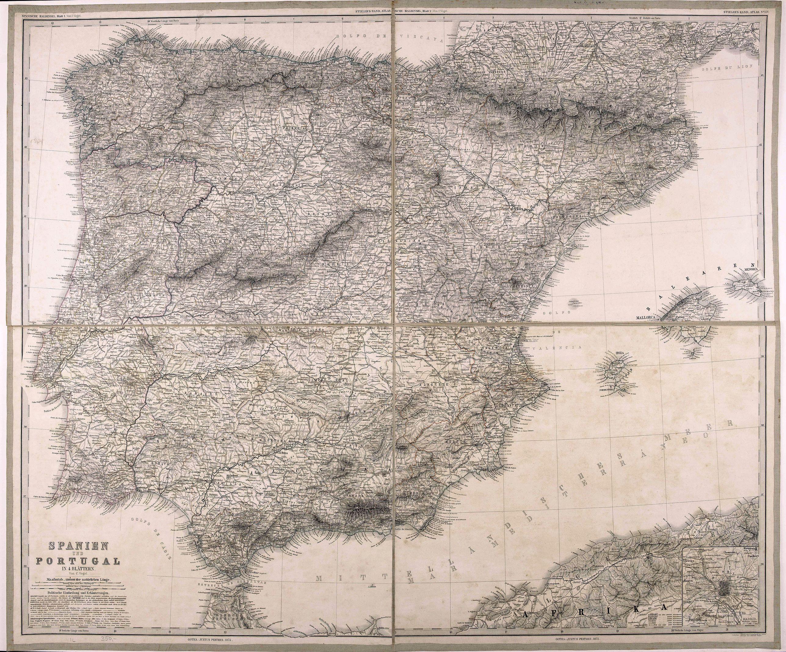 PERTHES, J. - Spanien und Portugal.