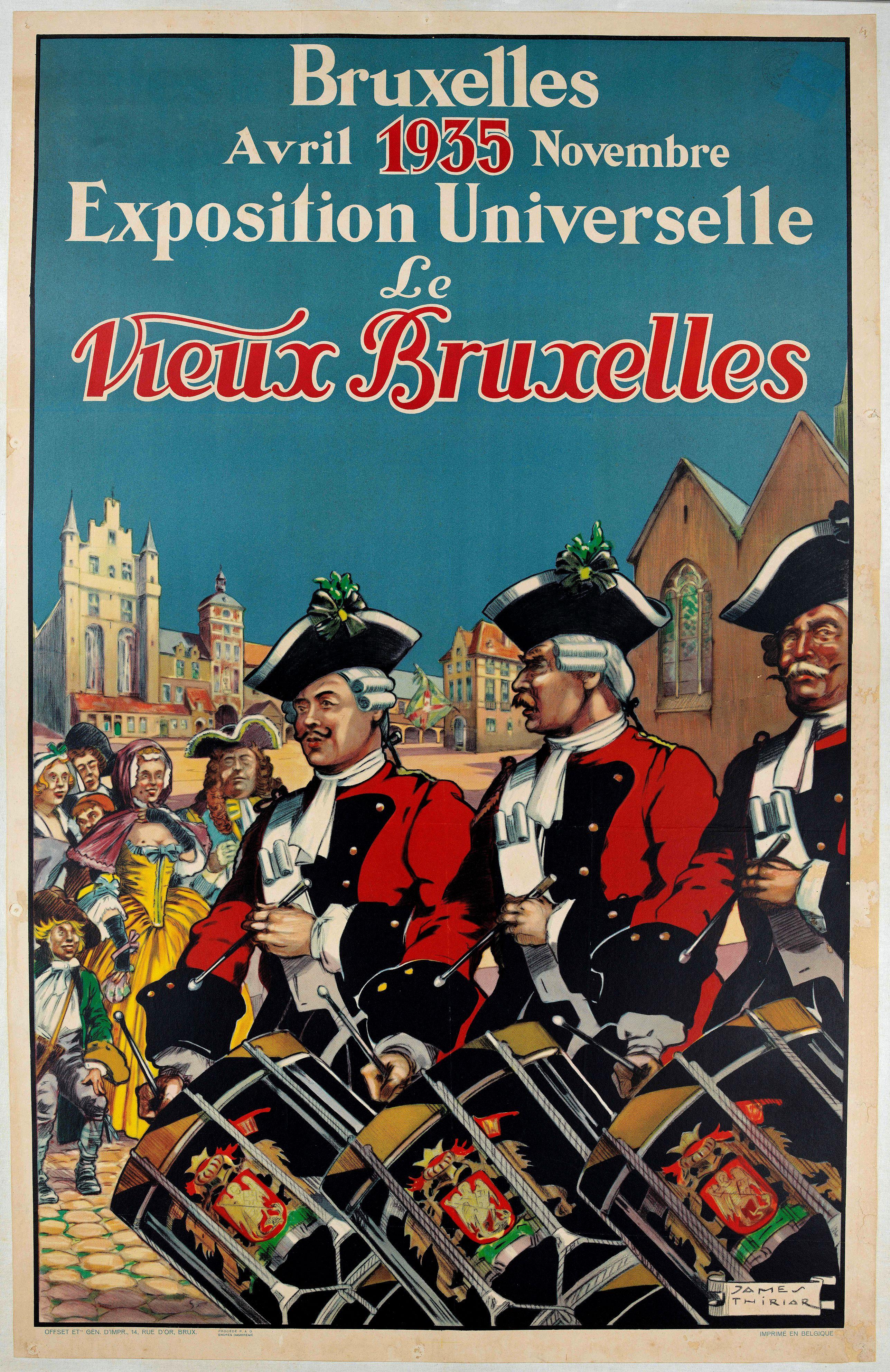THIRIAR, J. -  Bruxelles Avril Novembre 1935  Exposition Universelle Le Vieux Bruxelles.