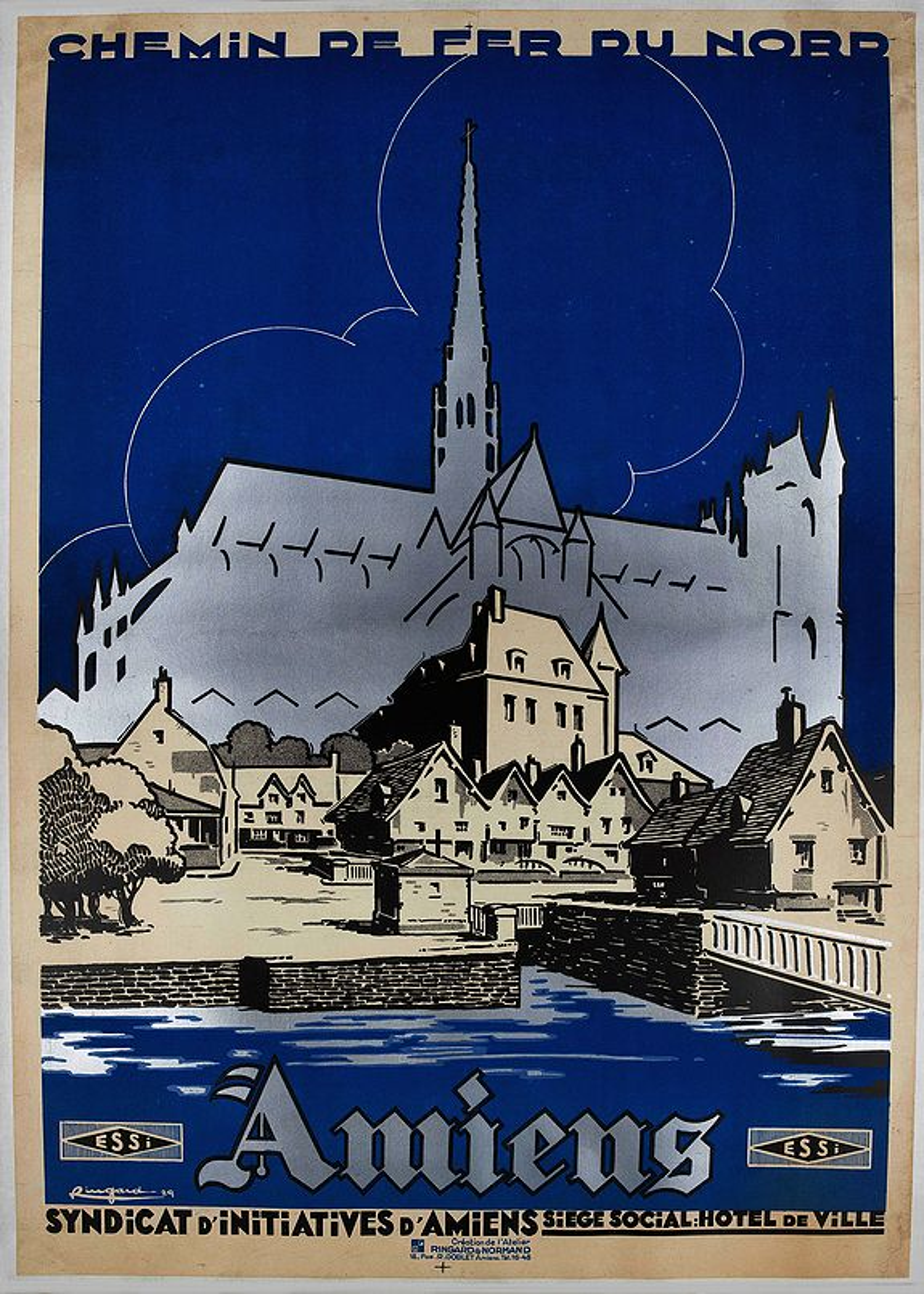 RINGARD & NORMAND -  Amiens.  Chemin de fer du nord.