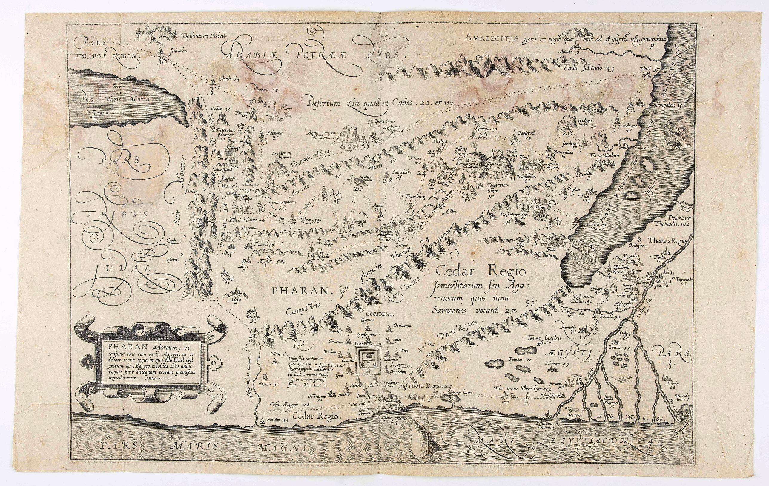 VAN ADRICHEM, C. - Pharan desertum, et confinia eius cum parte Aegypti, ea videlicet terrae regio . . .