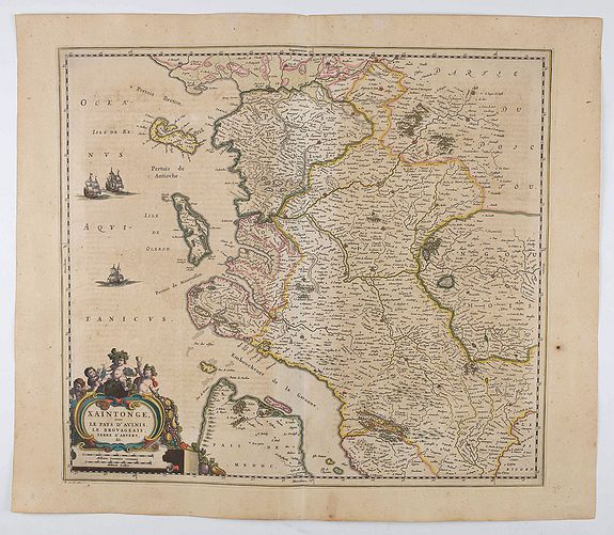 BLAEU, J. - Xaintonge avec le pays d'Aulnis, le Brouageais, terre d'Arvert . . .