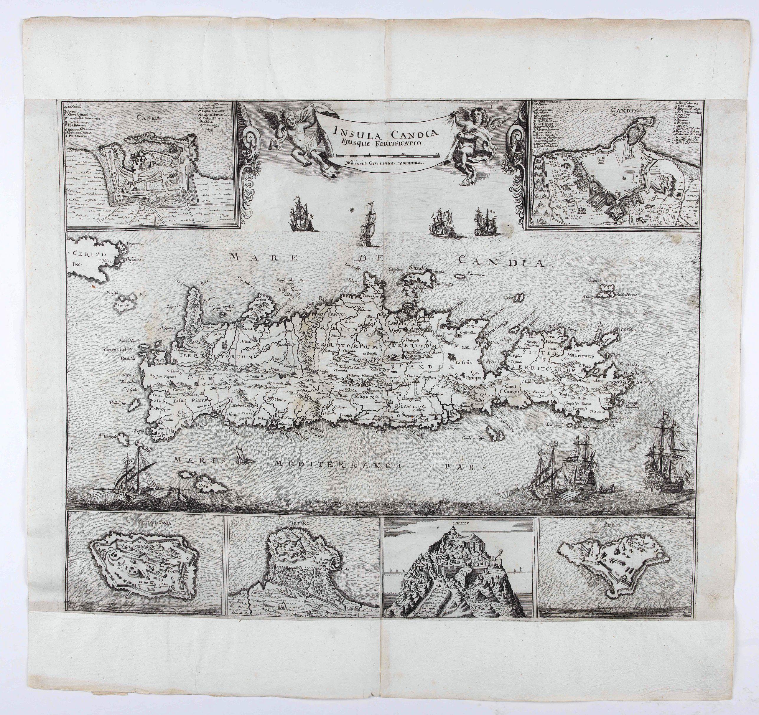 HOFFMANN, J. -  Insula Candia ejusque fortificatio.