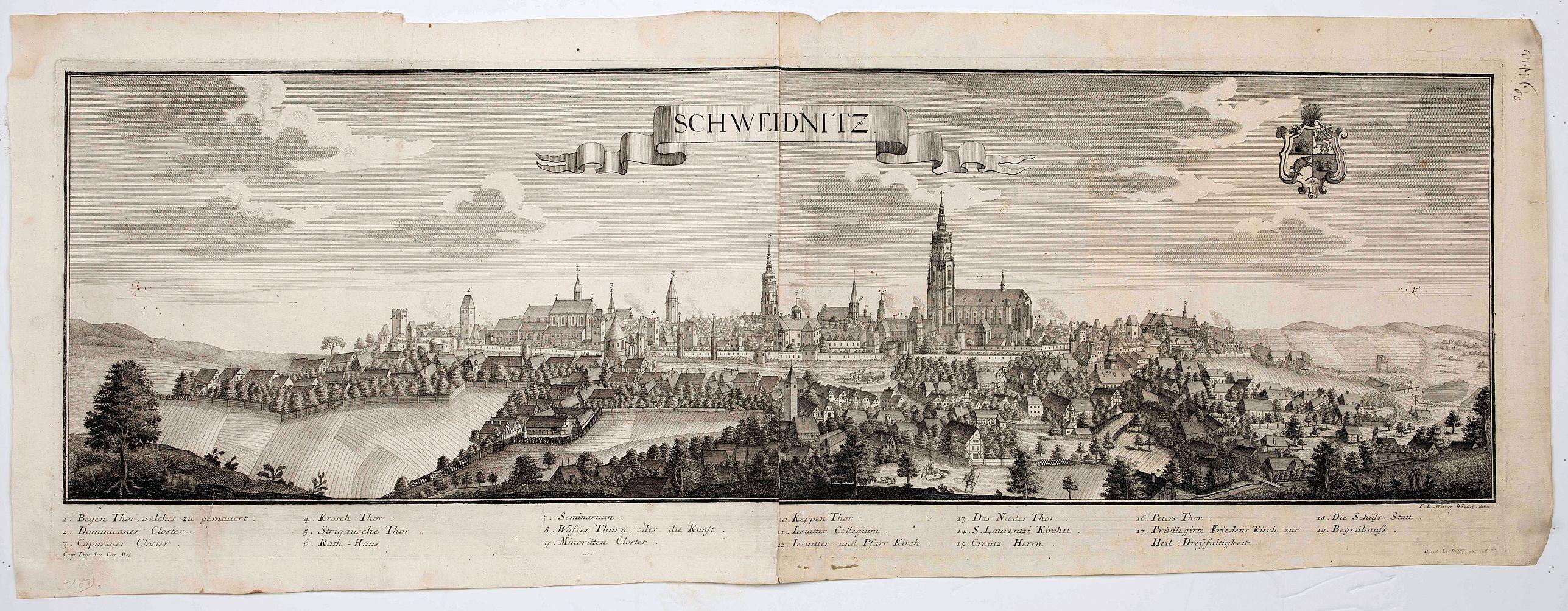WOLFF, J. heirs / WERNER, F. B. -  Schweidnitz. (Swidnica)