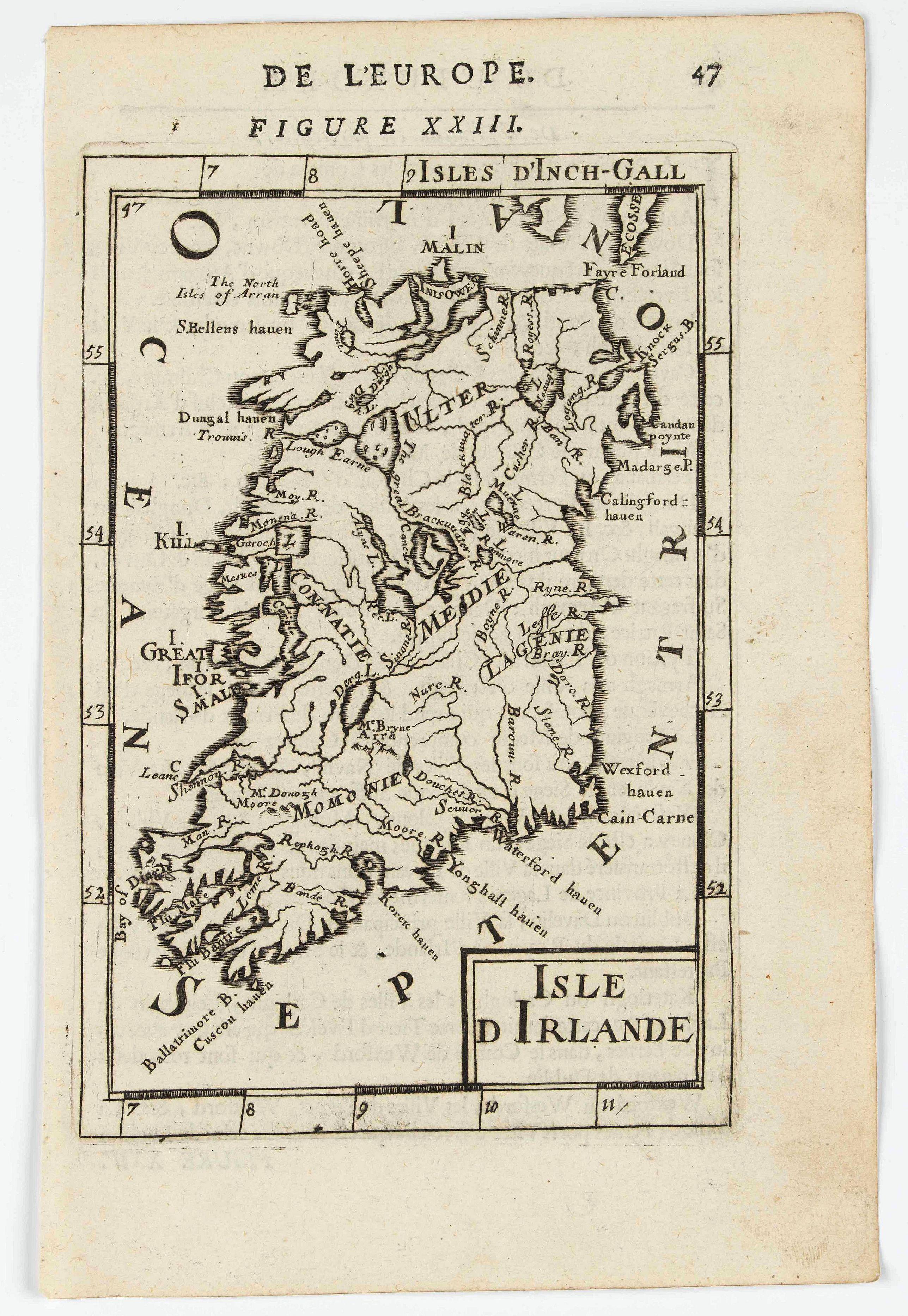 MANESSON MALLET, A. -  Isle d'Irlande (Ireland).